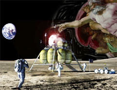 First faith-based NASA moon mission (artist's conception)