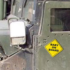 Baby on Board Security Enhancer-equipped Humvee
