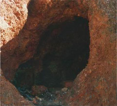 Cave in which fossilized fecal matter of Jesus was discovered