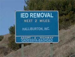 Iraqi Adopt-a-Highway Sign