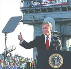 President Bush congratulates GOP candidates on victory following their defeat in the 2006 elections